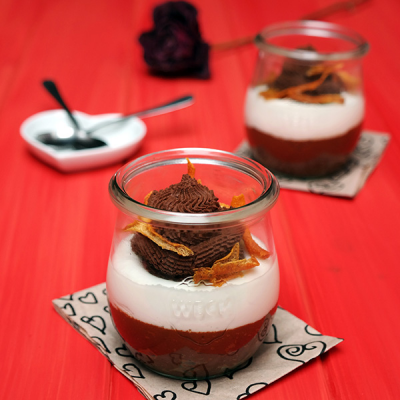 Luchtige Sinaasappel & Chocolade Mousse