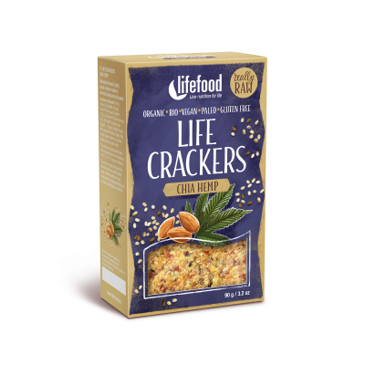 Life Crackers Chia Hennep RAW & BIO