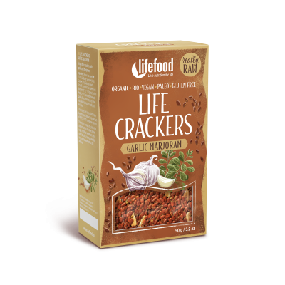 Life Crackers Knoflook Marjolein RAW & BIO