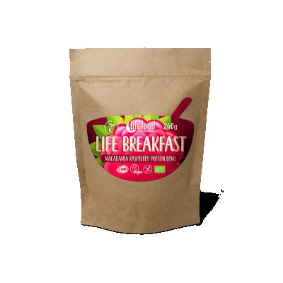 Life Breakfast Macadamia Framboos Proteïne Mix RAW & BIO