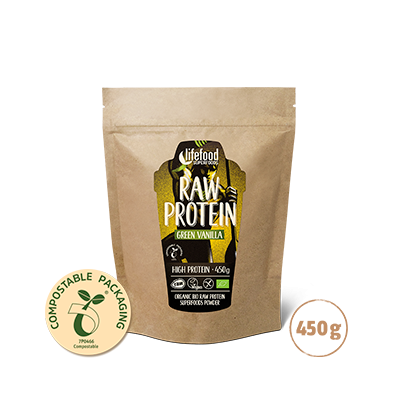 Superfood Proteïnepoeder Green Vanilla RAW & BIO 450 g