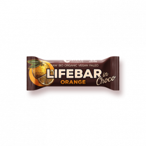 Lifebar InChoco Sinaasappel RAW & BIO