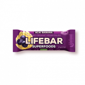 Lifebar Superfoods Energiereep Açai Banana RAW & BIO