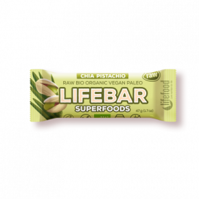 Lifebar Superfoods Energiereep Chia Pistachio RAW & BIO