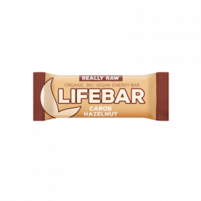 Lifebar Energiereep Carobe Hazelnoot RAW & BIO