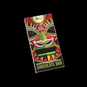 Rauwe Chocolade Noten & Kersen BIO 70 g